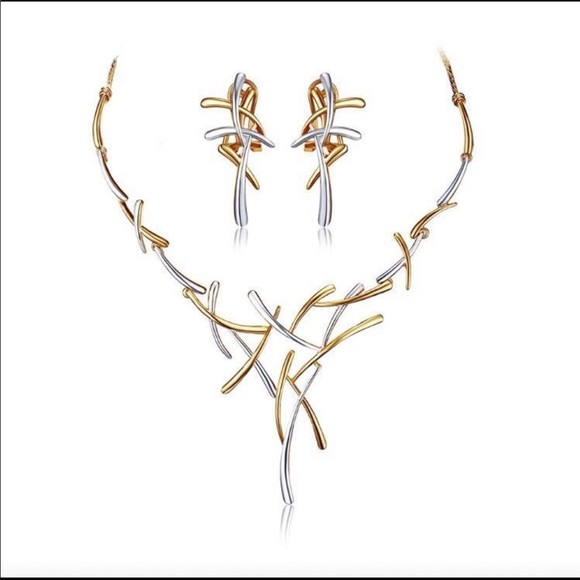 Azura Jewelry - Two Piece Branch Necklace & Earring